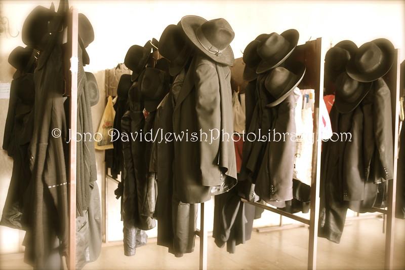 Hats and Coats  Ponevez Yeshiva, B'nei Brak, Tel Aviv, ISRAEL