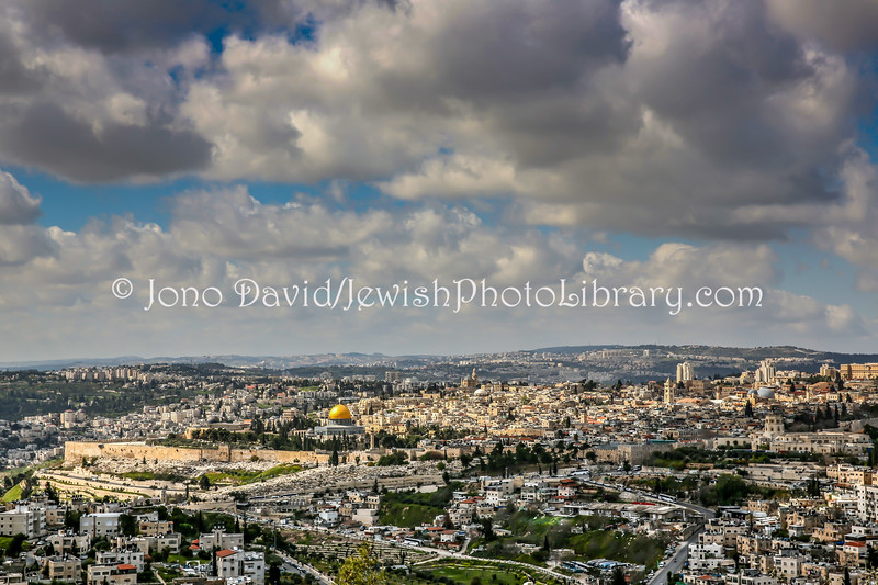 IL 6977  View of Old City from Hebrew University of Jerusalem, Mount Scopus
