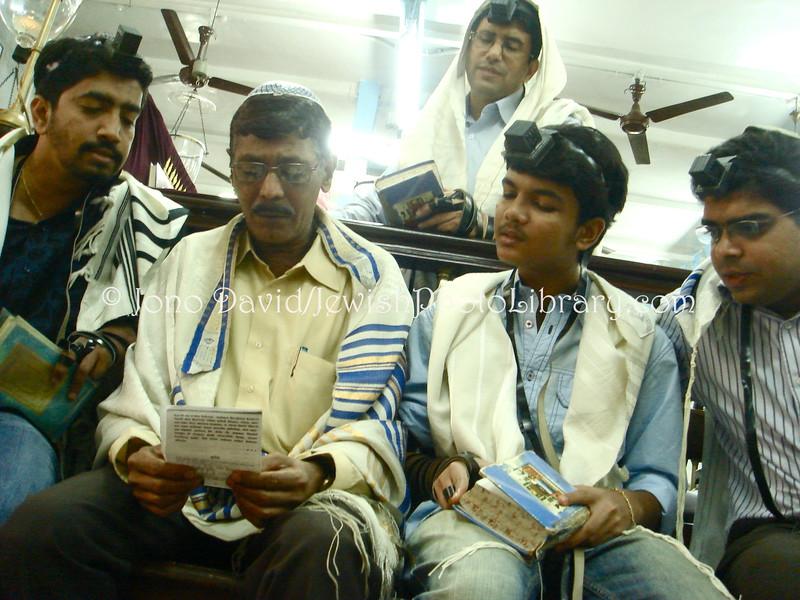 IN-D 793  Purim at Tifereth Israel Synagogue, Mumbai, INDIA