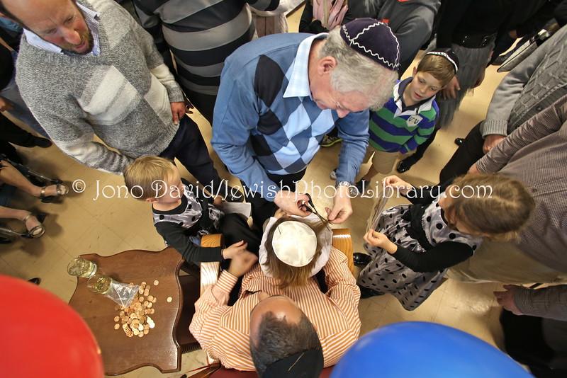 Upshernish (hair cutting ceremony)  Northcliff Hebrew Congregation  JOHANNESBURG, South Africa