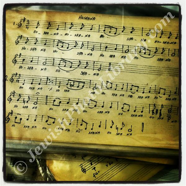 Old music sheets, Great Park Synagoguge, Johannesburg, South Africa