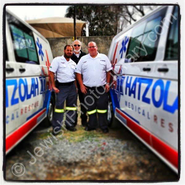 Hatzolah (emergency medical services) volunteers  Johannesburg, South Africa