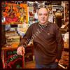 "Stephen ""Sugar"" Segerman in his record shop Mabu Vinyul, Cape Town, South Africa"