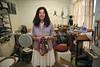 ZA 9011  Beverley Price, jewelry artist, in her studio  Johannesburg, South Africa