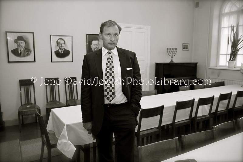 FI 817  Tomer Huhtamaki, Chairman of the Board  Turku Synagogue, FINLAND