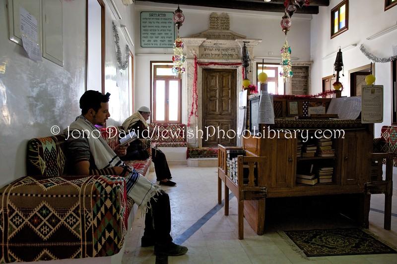 Shacharit (morning prayers), Synagogue Rabbi Yitzhak Hori  Hara Kebira, Djerba, Tunisia