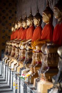 Buddha Statues, Cloisters around Phra Ubosot, Wat Arun Ratchawararam (Temple of Dawn)
