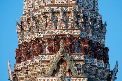 Narayana on Garuda and Indra God, the Main Prang of Wat Arun Ratchawararam