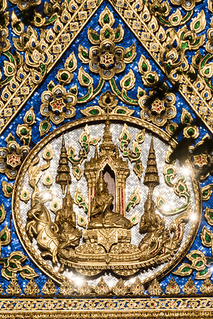 The Moon God on the West Padiment of Phra Ubosot, Wat Suthat Thepwararam