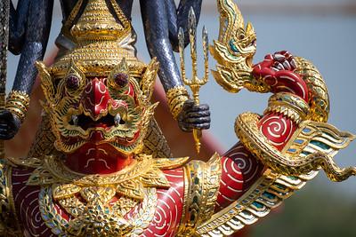 The Royal Barge Narai Song Suban - H.M. King Rama IX, the Rehearsal for the Royal Barge Procession