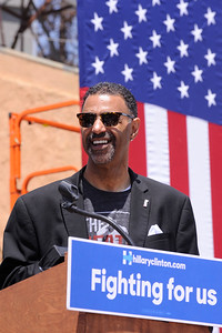 HILLARY CLINTON COMES TO THE LEIMERT PARK COMMUNITY TO HELP GET OUT THE VOTE. COMMUNITY ACTIVIST, COMMUNITY LEADERS, AND STARS JOIN  IN ON THE GET OUT TO VOTE MESSAGE FOR JUNE 7TH 2016 PHOTOS BY VALERIE GOODLOE