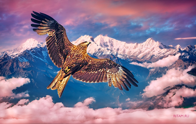 Himalayan mountain range Ganesh Himal and Manaslu Himal - Nepal