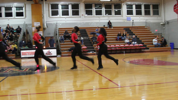 Basketball 2012:  Poms at Game 10 vs. Poolesville