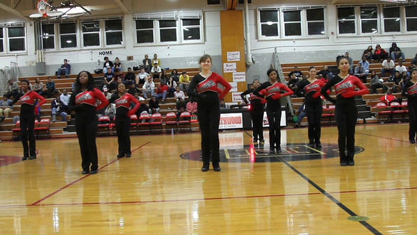Poms at Basketball:  Halftime at Wheaton Game_video