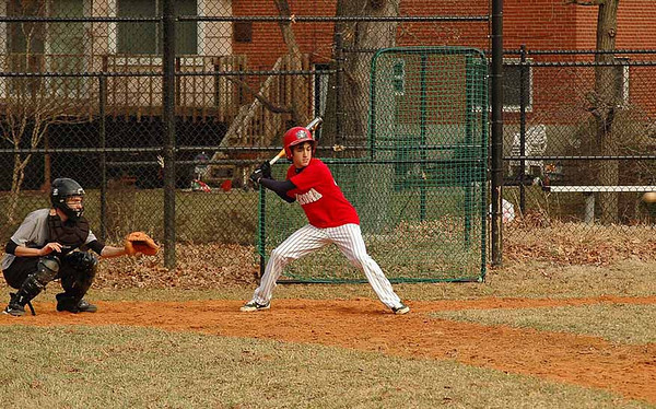 Varsity Baseball practice