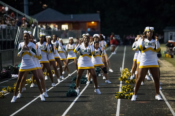 Poms and Cheer at Northwood-Kennedy game