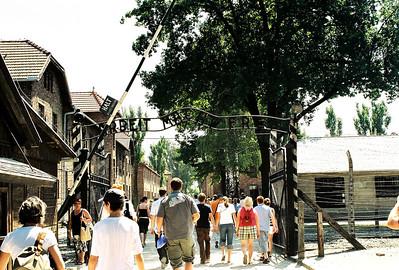 Auschwitz. Entrance gate.