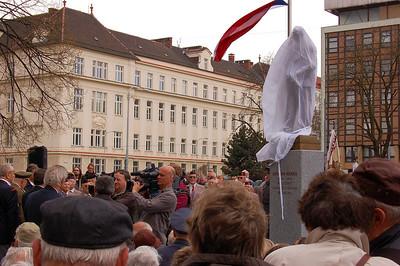 10. dubna 2010. Slavnostní odhalení sochy dr, Edvarda Beneše.