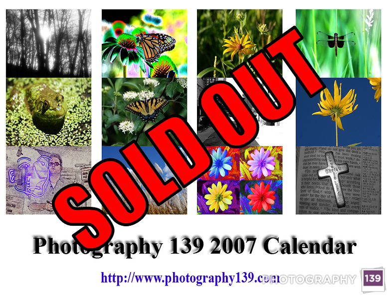 2007 Photography 139 Calendar - Sold Out