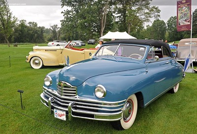 1948 Packard Super-Eight Convertible, in French Blue.