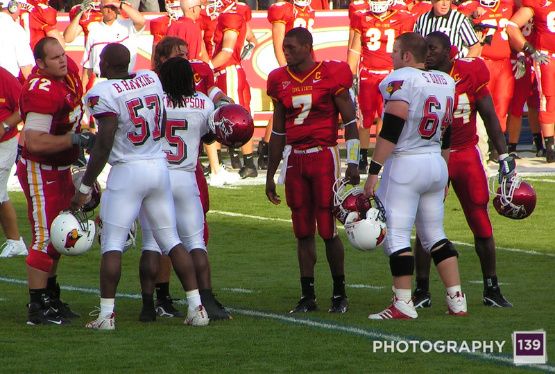 Iowa State and Illinois State Meet for a Cointoss