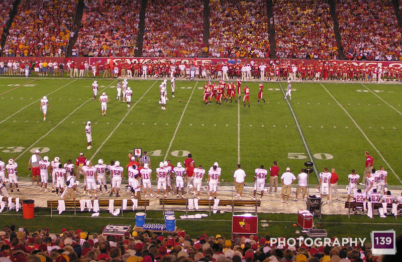 Jack Trice during a night game