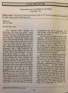 A Civil War Letter (pg 1)