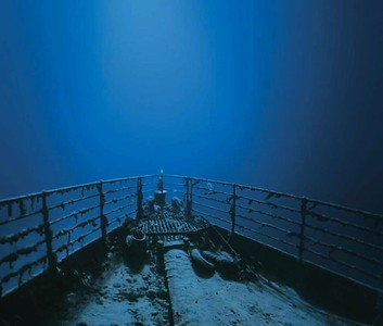 Looking into the Abyss from Titanic's bow.