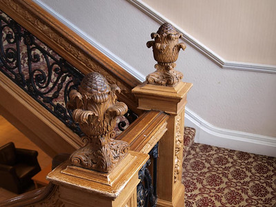 Grand Staircase Detail from RMS Olympic