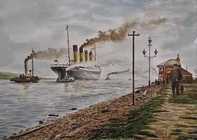 Arriving at Belfast after Successful Sea Trials (April 2, 1912)