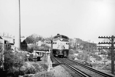 L&N Train 33 leaving Knoxville, TN, winter of 1951