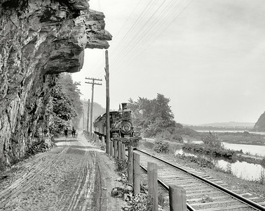 Hanging rock on the Susquehanna near Danville, Pennsylvania (1901)
