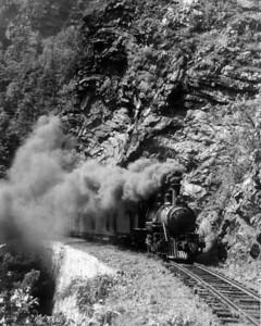 ET&WNC Train No. 11 in the Doe River Gorge (7/18/40)