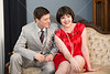 HITS Theatre's Hattie Marks as Millie Dillmount and Nick Grabowski as Jimmy Smith, leads for the upcoming performance of Thoroughly Modern Millie, pose for publicity photos at the Sycamore House Bed and Breakfast in the historic Heights section of Houston. The theatre school stages the play at Miller Outdoor Theater April 4, 5, 6, and 11 at 8pm. Fri., Feb. 8, 2013. Houston, Tex. (Kevin B Long / GulfCoastShots.com)