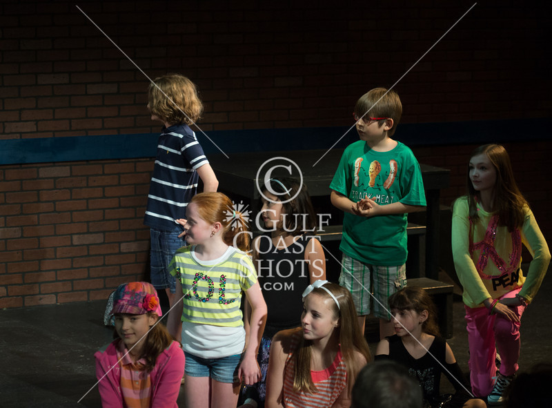 """HITS Theatre school's Bridge cast directed by Santry Rush performs the Gary Kupper / Rose Caiola musical """"Freckleface Strawberry"""" at their historic Houston Heights theatre. 530pm., Sun., Dec. 9, 2012. Houston, Tex. (Kevin B Long/GulfCoastShots.com)"""