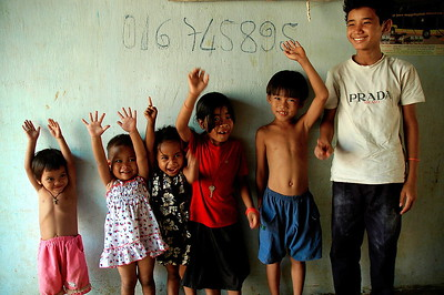 Children with HIV at a group home in Phnom Penh.