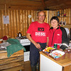 "Acke and Siv Kuoljok, owners and operators of ""Pietsjaure Sijdda (village) Café and boat rentals. Go to: <a href=""http://www.pietsjaure.se"">http://www.pietsjaure.se</a>"