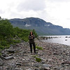 "A brief walk along the shore of the lake ""Langas"" after landing at the boat dock at Saltoluokta Mountain Station."