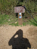 Trail marker and directions to other trails, giving proof to my heroic accomplishment