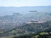 Bernal Peak:in Santa Teresa County Park, 950 feet (290 meters)<br /> Coyote Peak 1155 feet in Santa Teresa County Park, 1155 feet (352 meters)<br /> Bull Run in Almaden Quicksilver County Park, 1740 feet (530 meters)<br /> The road between Bernal Peak and Coyote Peak leads to the IBM Almaden Research Center.