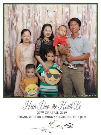 Hien Dao & Keith Le wedding instant print photo booth @ Gala Center - Chụp ảnh lấy ngay Tiệc cưới tại TP. HCM - WefieBox Photobooth Vietnam