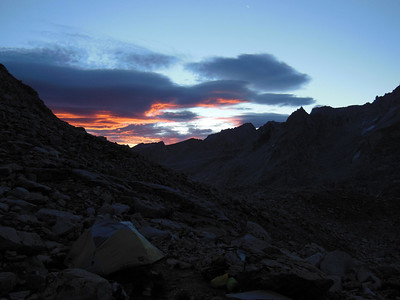 Sunrise from camp, morning of 2nd day.