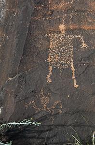 Petroglyphs at the head of Costilla Creek Canyon.