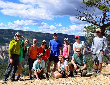 Everyone atop Mesa de Los Viejos.  10 miles to reach Cebolla Creek camp.