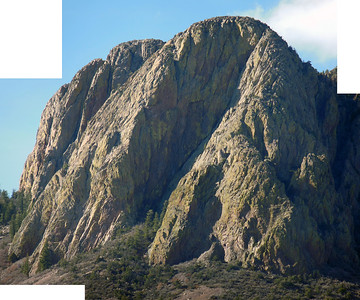 SE Face Vic's Peak, Apache Kid Wilderness Area, Southern San Mateo Mountains. Face is 700 - 900 feet, bottom at about 8,800' top of face 9,700'. Can't find any record of climbs!