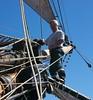 Eddy on the jiboom Mainmast Watch (Gisborne to Sydney)