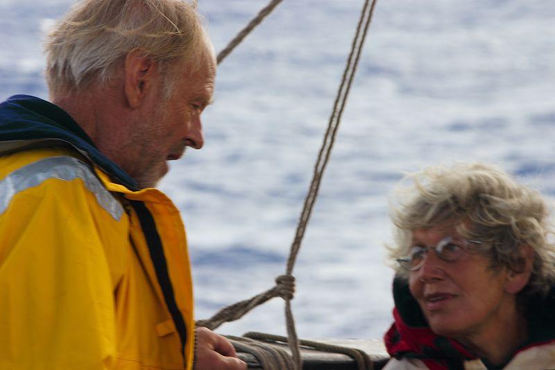 Phil Hogge and Ruth Morant - Mainmast Watch  (Tahiti to Gisborne)