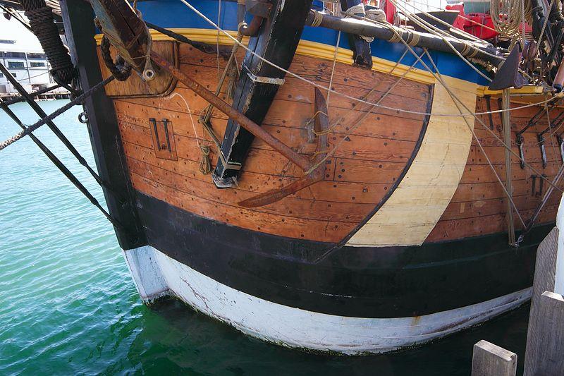 Endeavour moored alongside at the ANMM, Darling Harbour, Sydney
