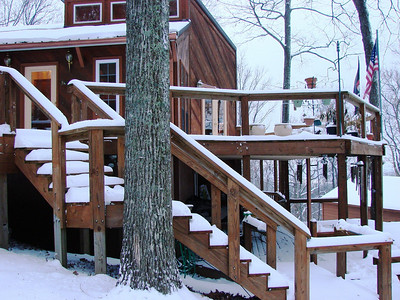 """Check out the steps.  Tom measured the snow and it was from 11"""" to as much as 14"""" in spots."""