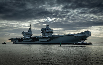 HMS Queen Elizabeth returning from exercise Westlant18, on December the 10th, 2018 (pic11)